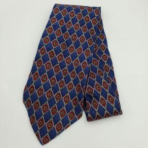 Mens Pierre Cardin Tie. Classic Silk Necktie Blue